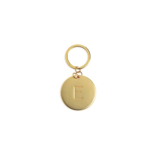 Schlüsselanhänger E, gold