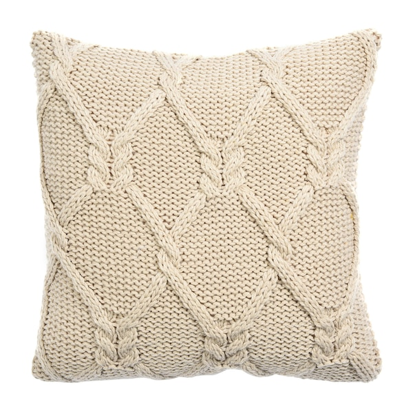 Kissenhülle Knitted, beige