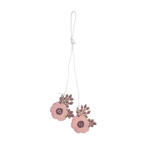 Dekoanhänger Blume, rosa