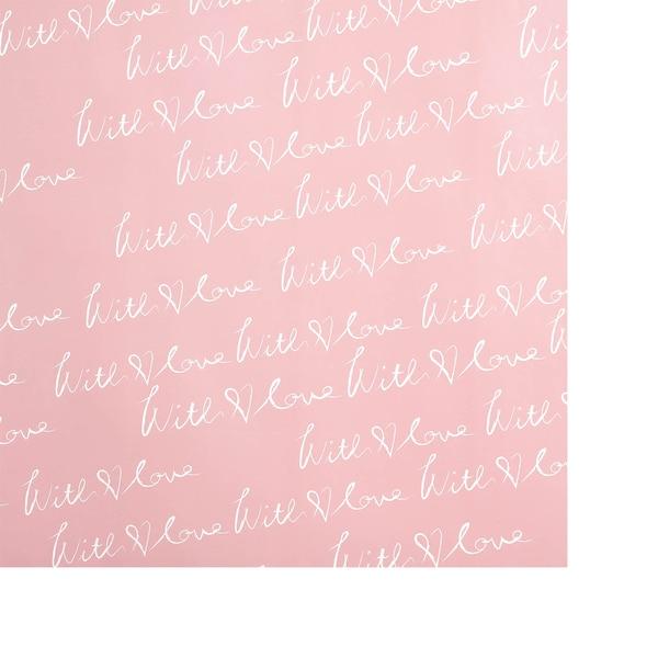 Geschenkpapier With Love, altrosa