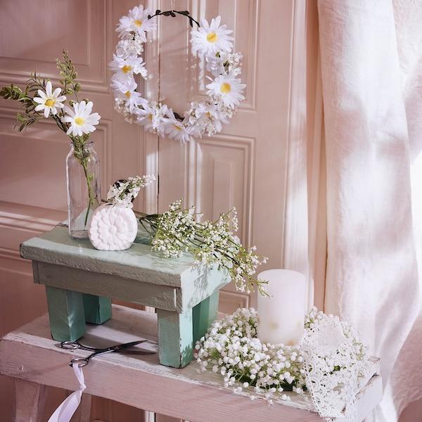 Weiße Frühlingsdeko