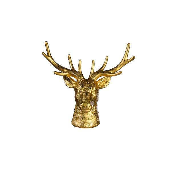 Dekofigur Hirsch, gold