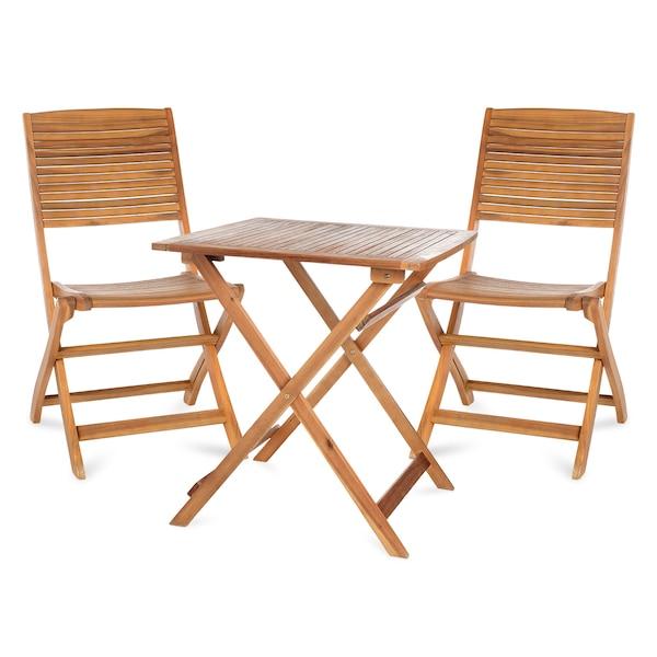 Outdoor-Sitzgruppe, 3-teilig, natur