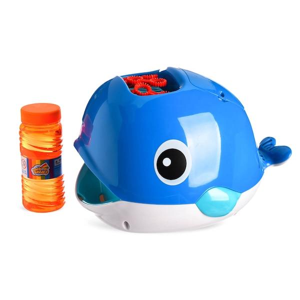 Seifenblasenmaschine Wal, blau