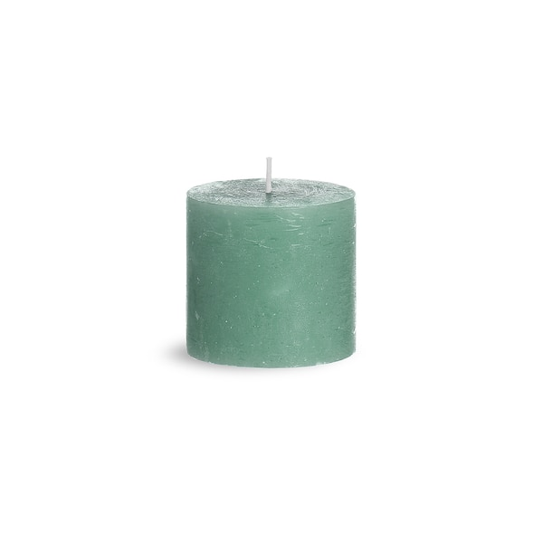 Stumpenkerze Rustic, mintgrün