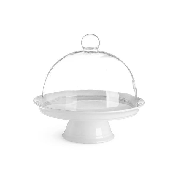 Tortenplatte mit Glocke, blanc