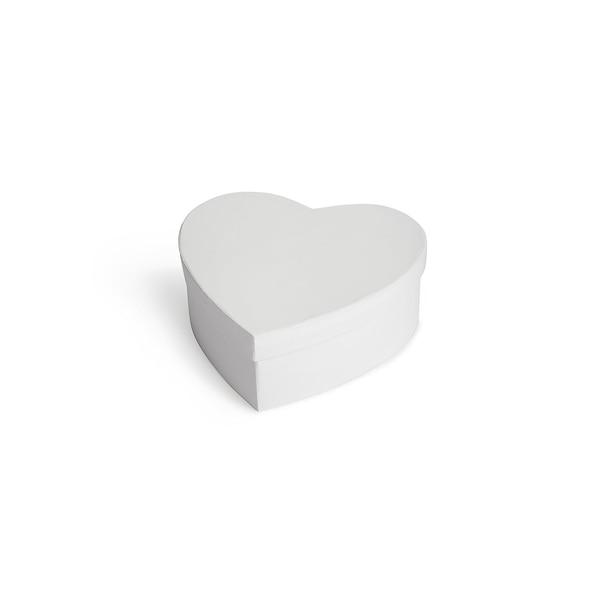 Boîte cœur, blanc