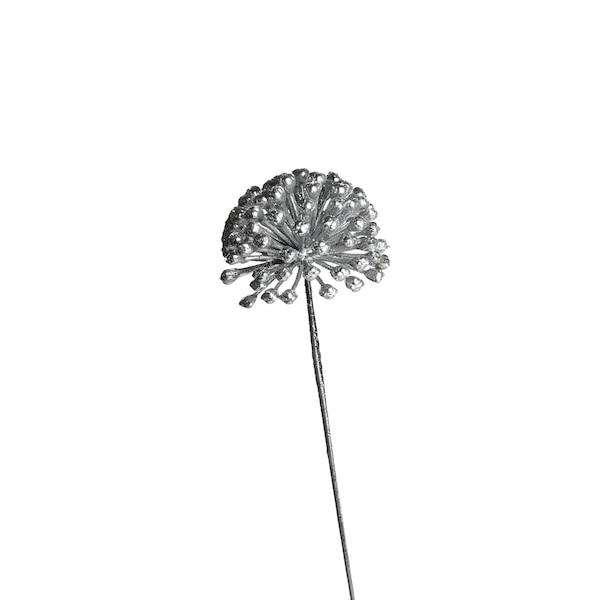 Kunstblume Efeubeere, silber