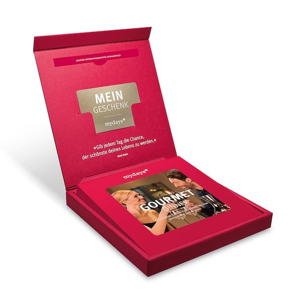 Gutscheinbox Gourmet Dinner - nur für Deutschland erhältlich, bunt