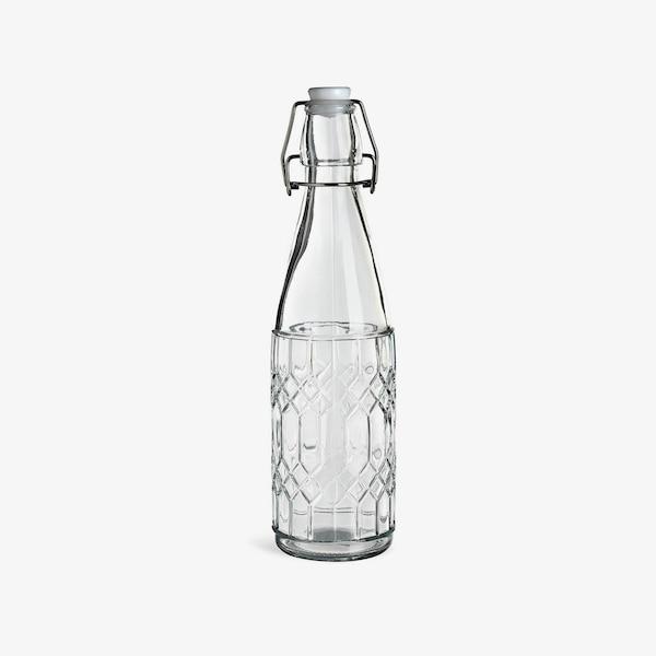 Bügelverschlussflasche Rhombus, klar