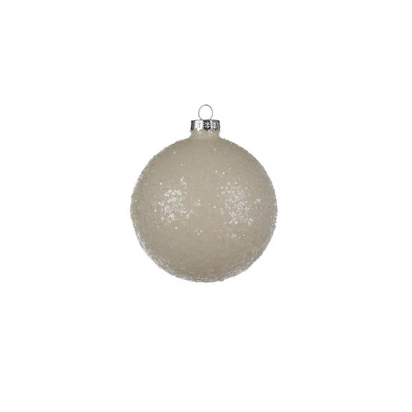 Weihnachtskugel Glimmer, weiß