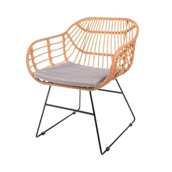In- & Outdoor-Sessel DEPOT Lisa mit Sitzkissen , natur