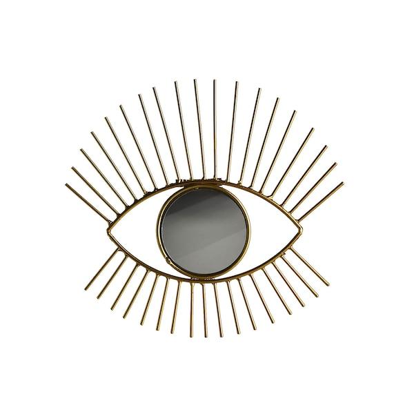 Wandspiegel Auge, gold