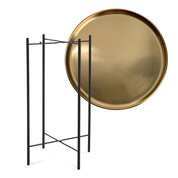 Tablett-Tisch, 2-teilig, gold