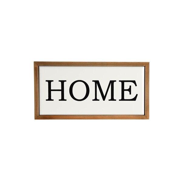Schild Home, weiß