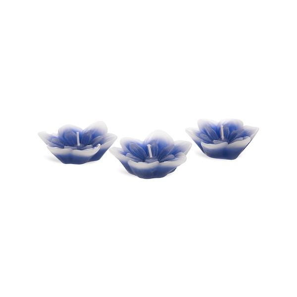 Schwimmkerzen Blue Flower, blau