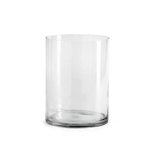 Zylindervase aus Glas, klar