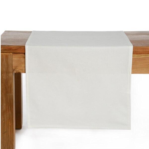 Tischläufer Uni, weiß