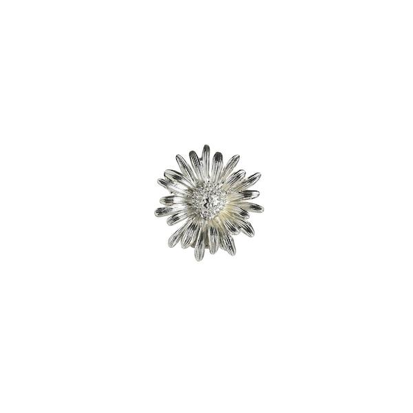 Brosche Gänseblümchen, silber