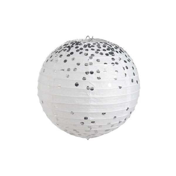 Papierlampion Dots, silber