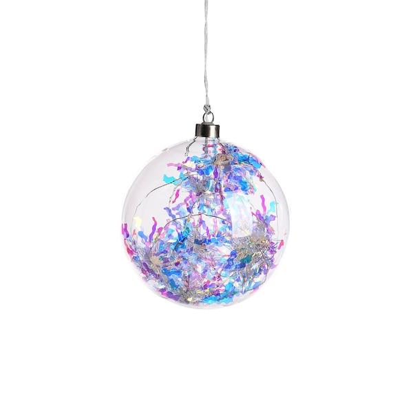 Lichtobjekt Holokugel, pastell