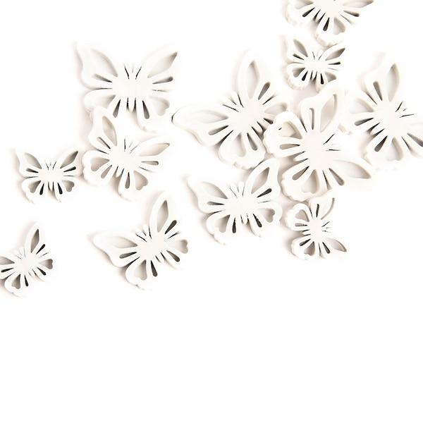 Streuartikel Schmetterling, weiß