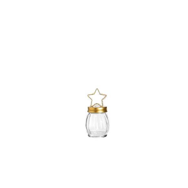 Leuchtobjekt aus Glas mit Stern, klar