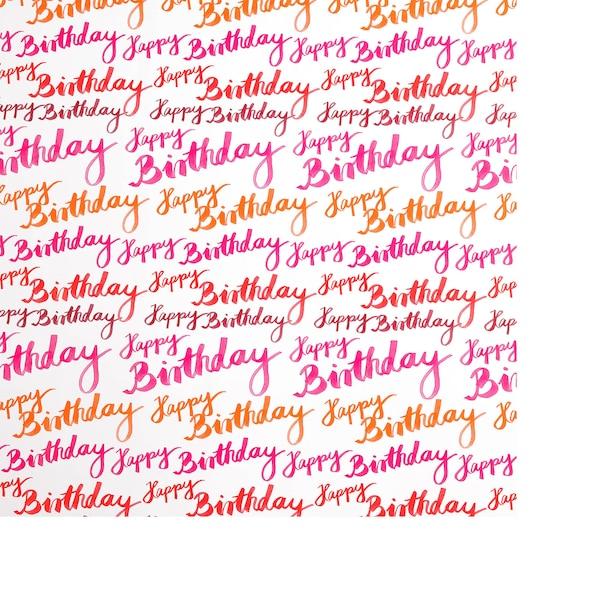 Geschenkpapier Birthday, bunt
