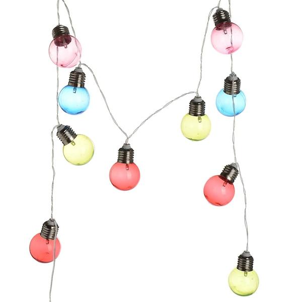 Outdoor Lichterkette Glühbirnen mit Timerfunktion, bunt