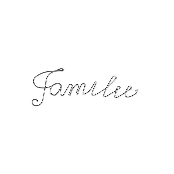 Schriftzug Familie, silber