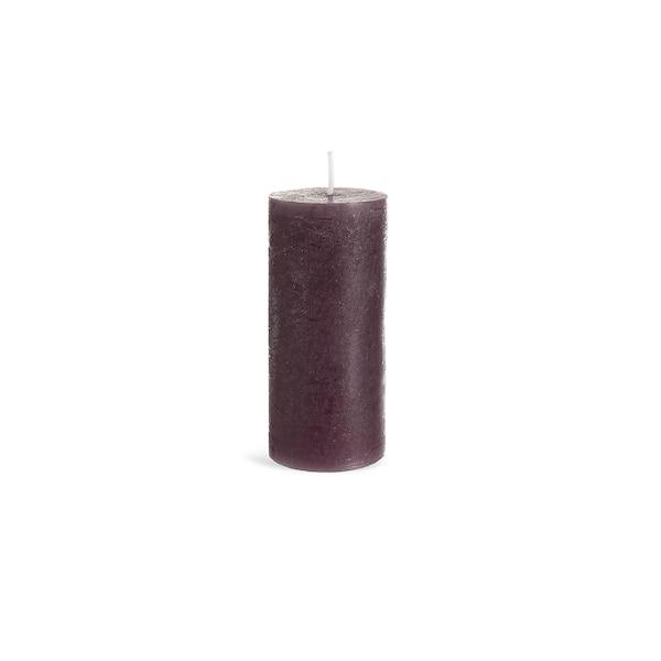 Bougie pilier Rustic, lilas foncé