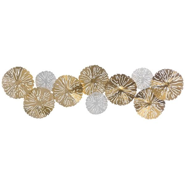 Wandobjekt Flower, gold