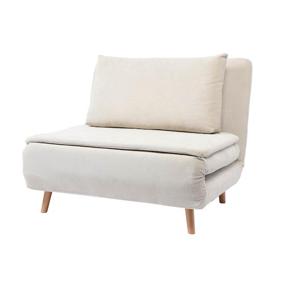 Sessel DEPOT Sofie mit Schlaffunktion, ausklappbar, hellbeige