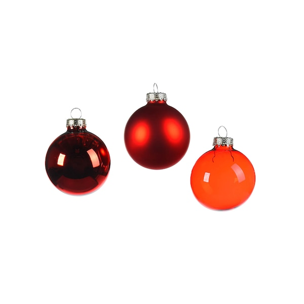 Weihnachtskugeln, rot