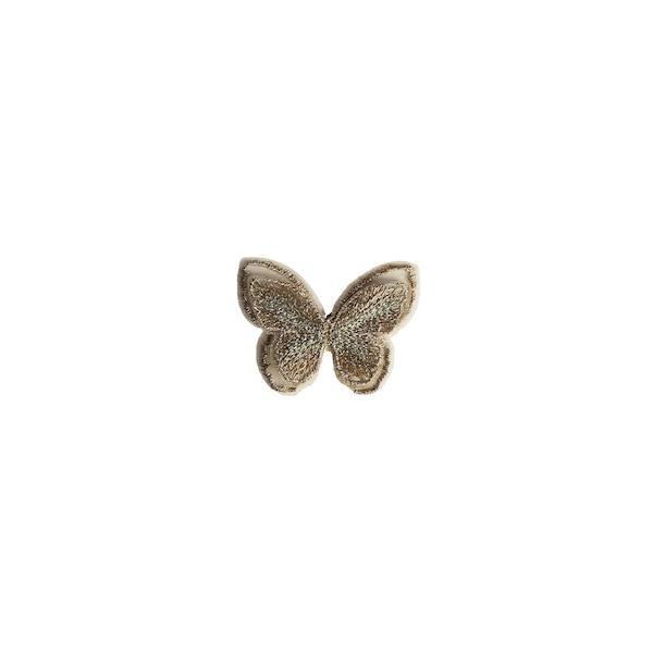Schmetterling zum Kleben, champagne