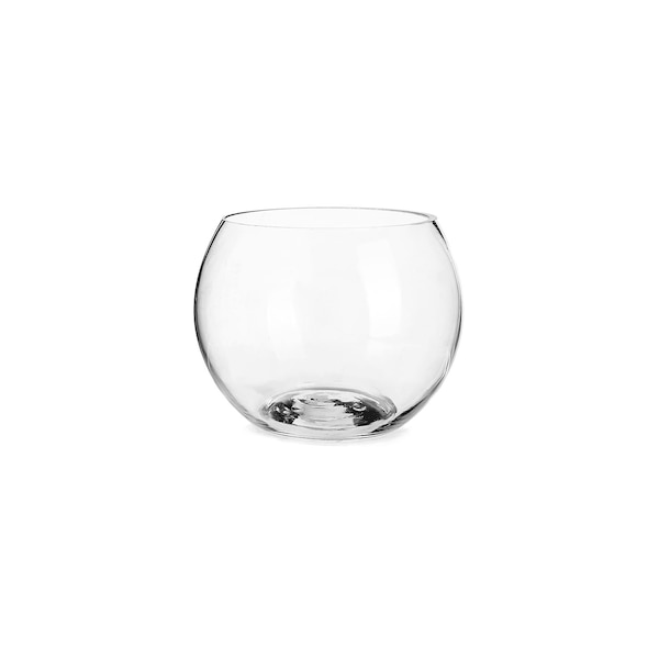 Kugelvase aus Glas, klar