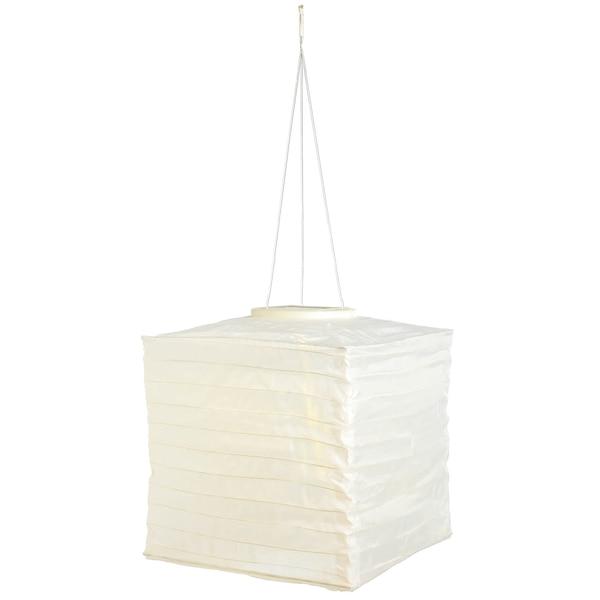 Solarleuchte Lampion, eckig, weiß