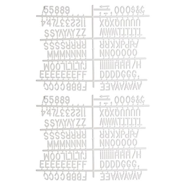 Buchstaben für Memoboard, weiß