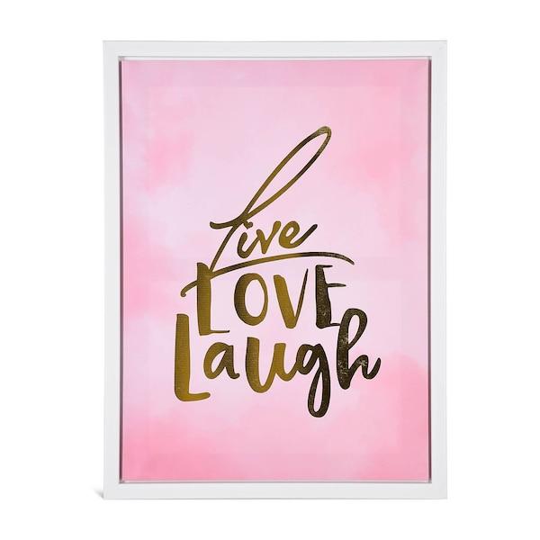 Bild Live Love Laugh, rosa
