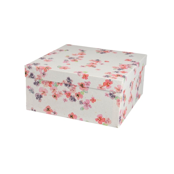 Geschenkbox Floral, bunt