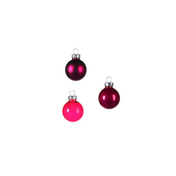 Mini-Weihnachtskugeln, pink