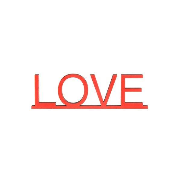 Schriftzug Love, rot