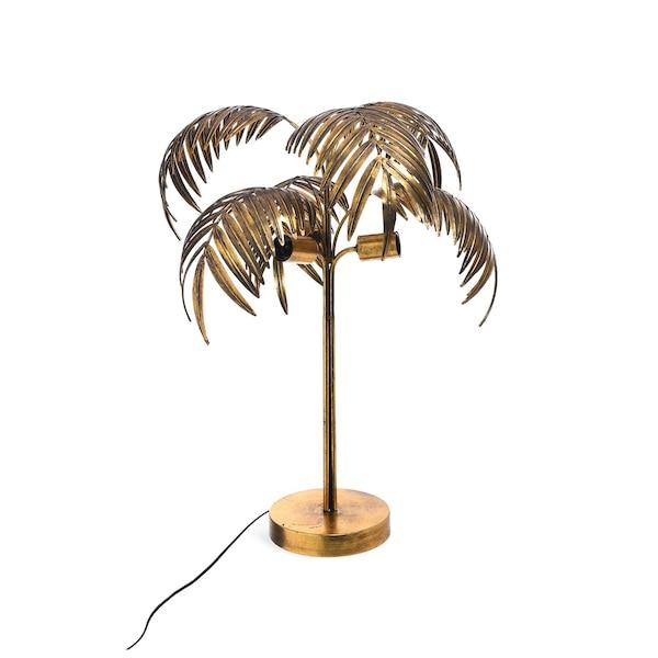 Tischleuchte Palm Tree, gold