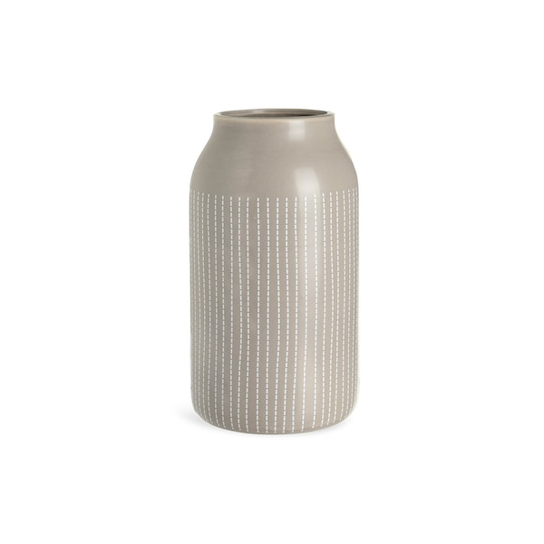 Vase Stripes , grau