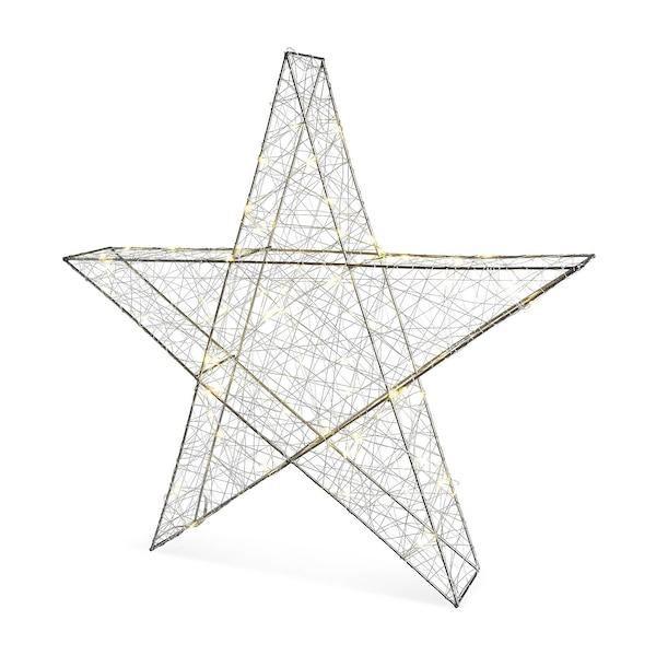 Outdoor Lichtobjekt Stern, silber
