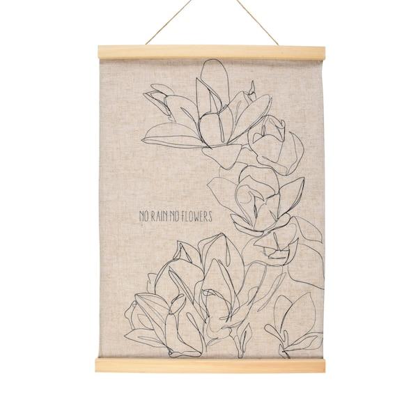 Wandbehang Magnolia, schwarz