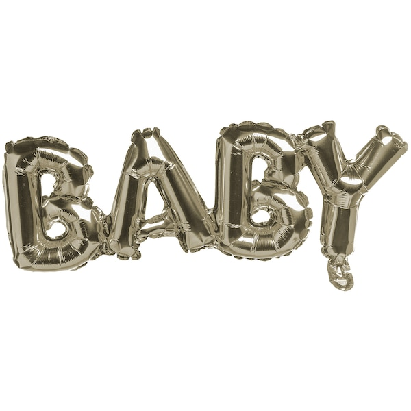Folienballon Baby, gold