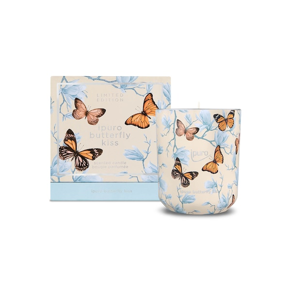 LIMITED EDITION ipuro butterfly kiss Duftkerze, ohne Farbe