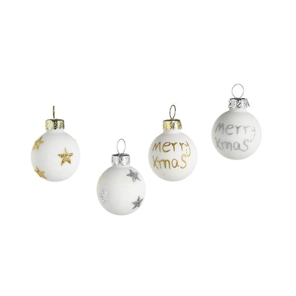 Mini-Weihnachtskugel, weiß