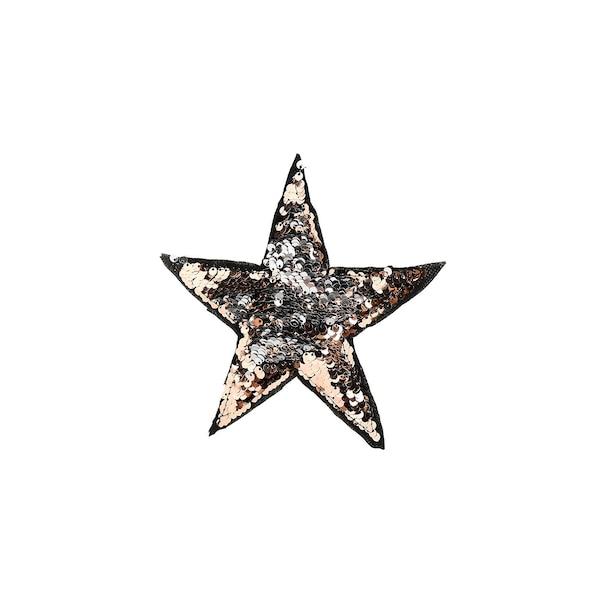 Anhänger Stern mit Pailletten, silber